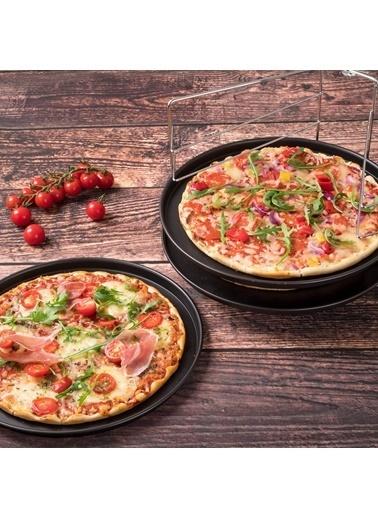 Zenker Zenker 7515 Special Countries Teflon Kaplama 3'lü Pizza Tepsisi ve Standı 29x1,5 Renkli